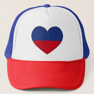 Boné Coração da bandeira de Haiti