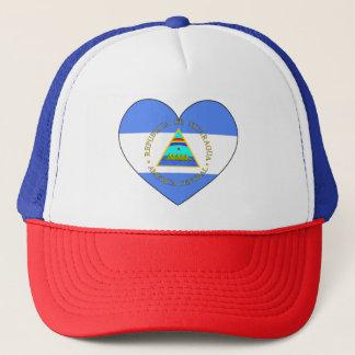 Boné Coração da bandeira de Nicarágua