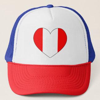 Boné Coração da bandeira de Peru