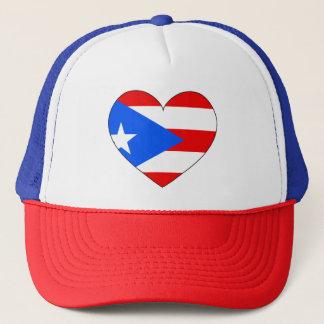 Boné Coração da bandeira de Puerto Rico