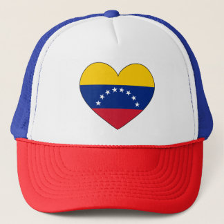 Boné Coração da bandeira de Venezuela