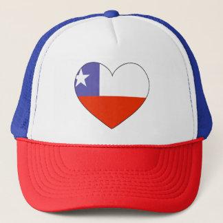 Boné Coração da bandeira do Chile