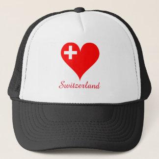 Boné Coração do amor da suiça