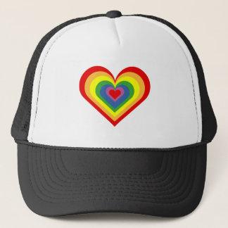 Boné Coração do arco-íris