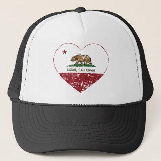 Boné coração do ukiah da bandeira de Califórnia