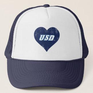 Boné Coração do vintage de USD