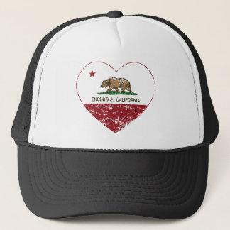 Boné coração dos encinitas da bandeira de Califórnia