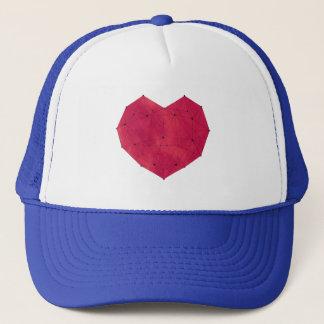Boné Coração geométrico
