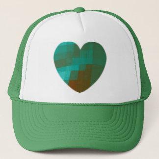 Boné coração verde