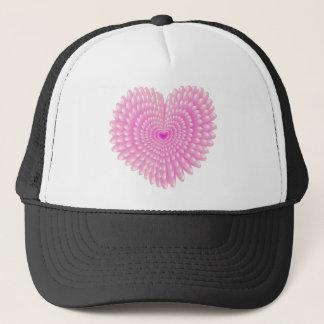 Boné Corações cor-de-rosa