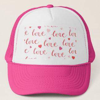 Boné Corações rosas vermelha dos namorados do amor