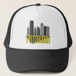 Boné Cores da cidade de Pittsburgh