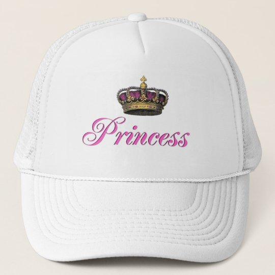 Boné Coroa da princesa no rosa quente  ecc35d6a51f