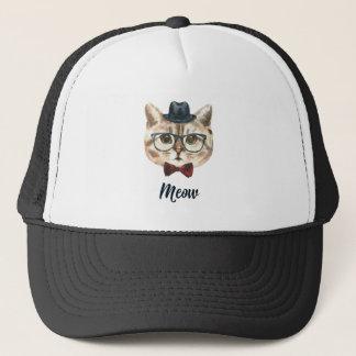 Boné Corte o gatinho do gato do hipster do vintage que