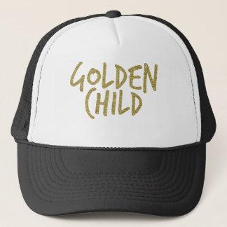Boné Criança dourada