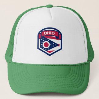 Boné Crista da bandeira do estado de Ohio dada forma