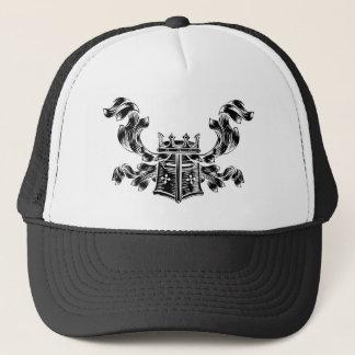 Boné Crista heráldica da brasão do capacete