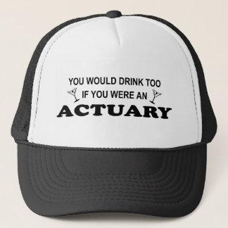Boné Da bebida escrivão demasiado -