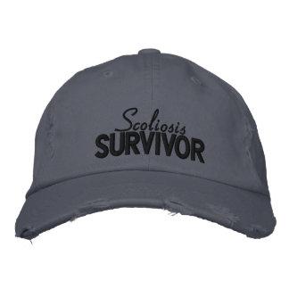 """Boné Da """"chapéu bordado do sobrevivente escoliose"""""""