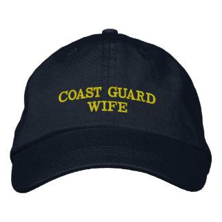 Boné da esposa da guarda costeira bordado