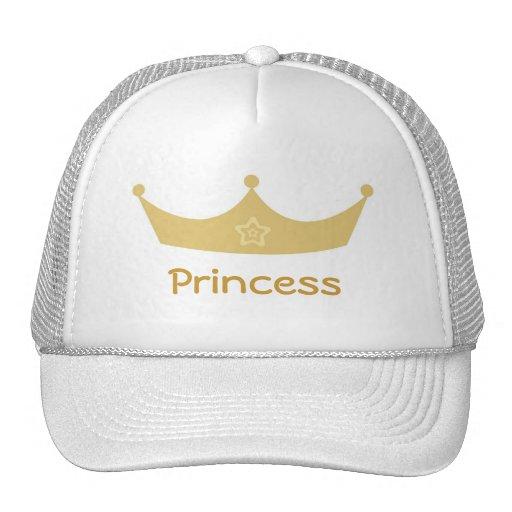 Boné da princesa de coroa