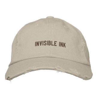 Boné da tinta invisível