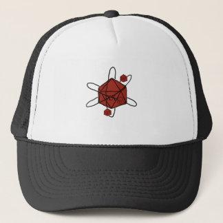 Boné Dado-Átomo (preto, vermelhos)