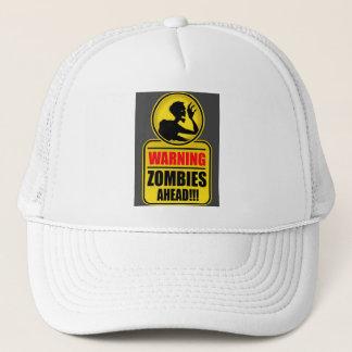 Boné de advertência dos zombis adiante