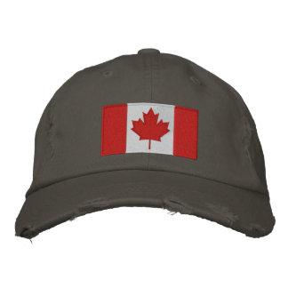 Boné de beisebol canadense da bandeira