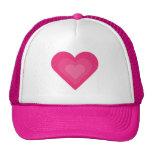 Boné de beisebol cor-de-rosa bonito dos corações d