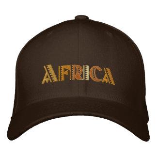 Boné de beisebol das cores de terra de África