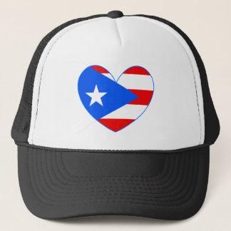 Boné de beisebol do coração da bandeira de Puerto