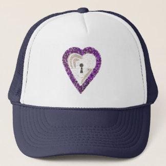 Boné de beisebol do coração do cacifo