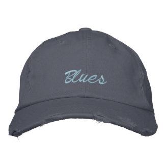 Boné de beisebol dos azuis