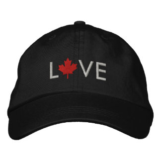 Boné de Canadá do amor - chapéu da folha de bordo