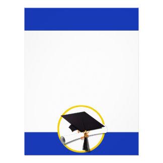 Boné de formatura w/Diploma - Fundo azul escuro Flyer 21.59 X 27.94cm