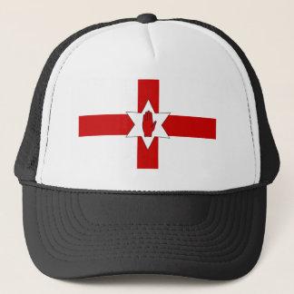 Boné de Irlanda do Norte - estrela & mão na cruz