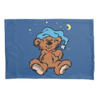 Boné de noite azul sonolento do urso de ursinho do