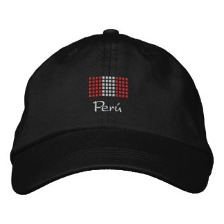 Boné de Peru - chapéu peruano da bandeira