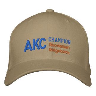 Boné de Rhodesian Ridgeback do campeão de AKC
