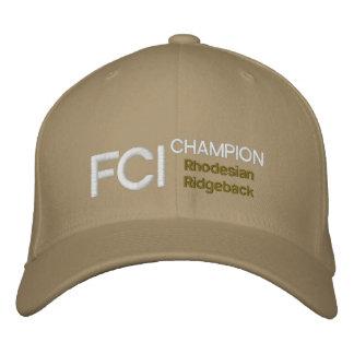 Boné de Rhodesian Ridgeback do campeão de FCI