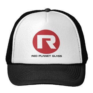 Boné de vidro do camionista do planeta vermelho