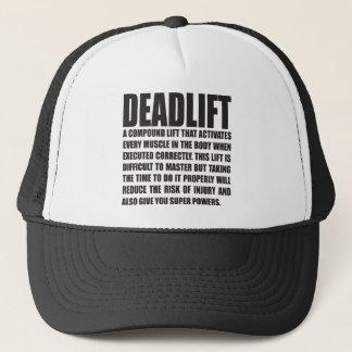 Boné Deadlift - exercício engraçado inspirador
