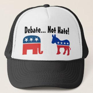 Boné Debate, não ódio - chapéu político