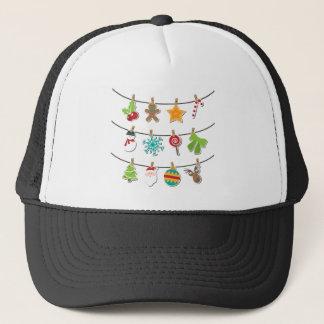Boné Decoração de suspensão do Xmas do Natal bonito