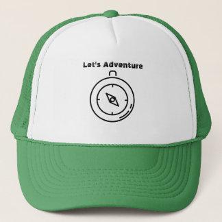 Boné Deixe-nos aventurar-se o chapéu do compasso