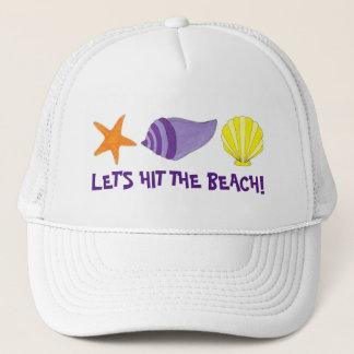 Boné Deixe-nos bater as férias da estrela do mar dos