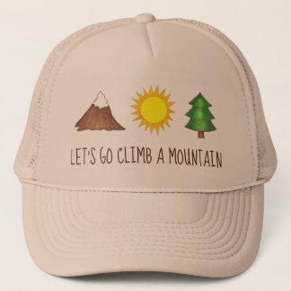 Boné Deixe-nos ir escalada um acampamento de Sun do