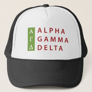 Boné Delta alfa da gama empilhado