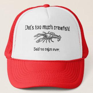 Boné Demasiado chapéu cómico do camionista de Cajun dos